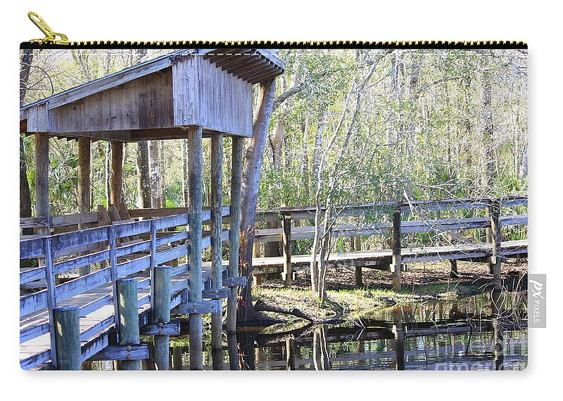 Morris Bridge Carry-all Pouch featuring the photograph Morris Bridge by Carol Groenen