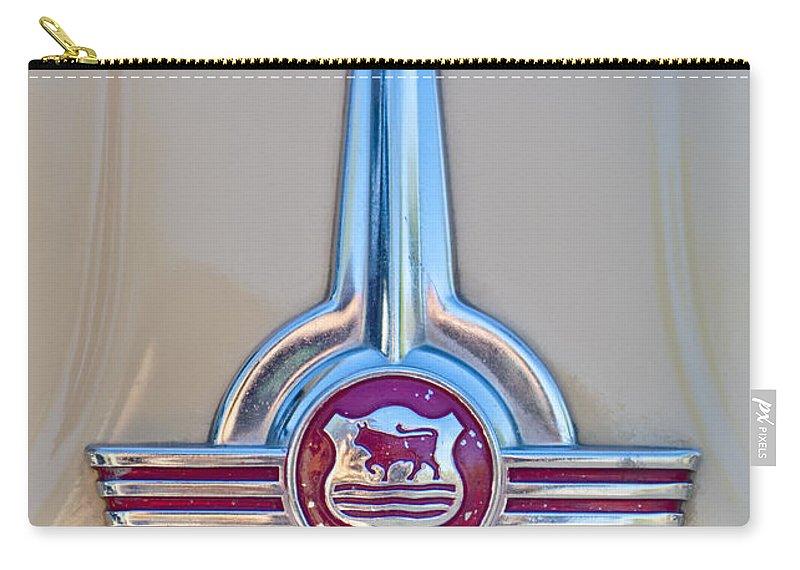 Morris Hood Emblem Carry-all Pouch featuring the photograph Morris Hood Emblem by Jill Reger