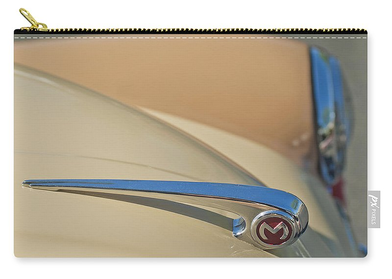 Morris Hood Ornament Carry-all Pouch featuring the photograph Morris Hood Ornament by Jill Reger