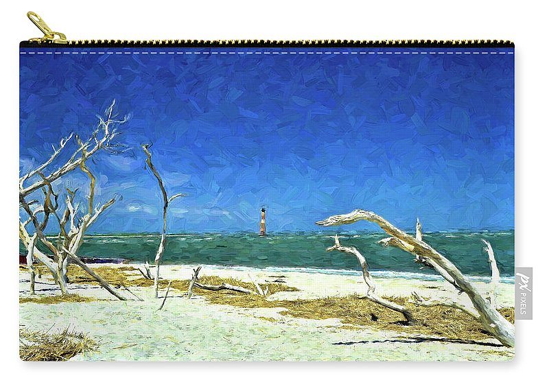 Morris Island Lighthouse Carry-all Pouch featuring the photograph Morris Island Lighthouse 2 by Allen Beatty