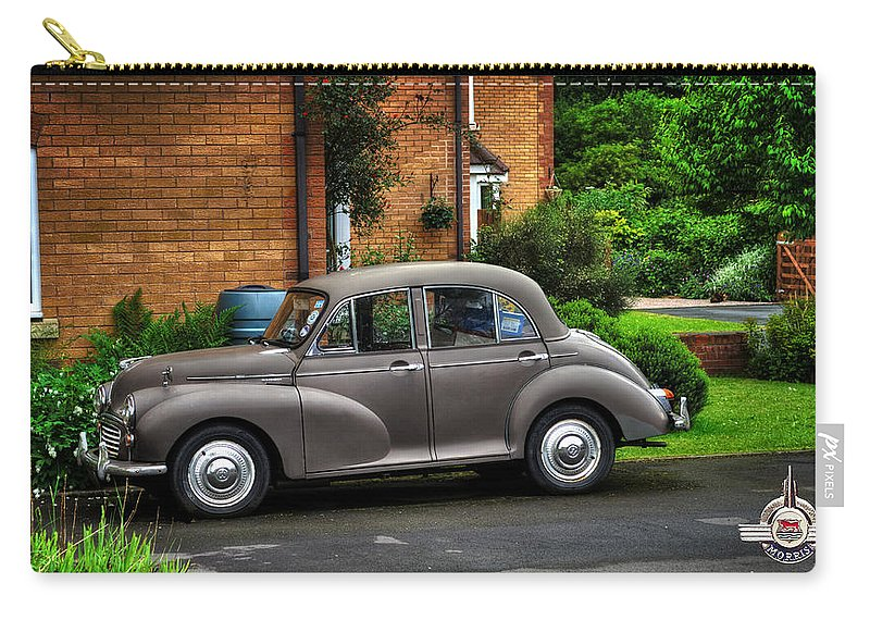 Morris Carry-all Pouch featuring the photograph Morris Minor by Pennie McCracken