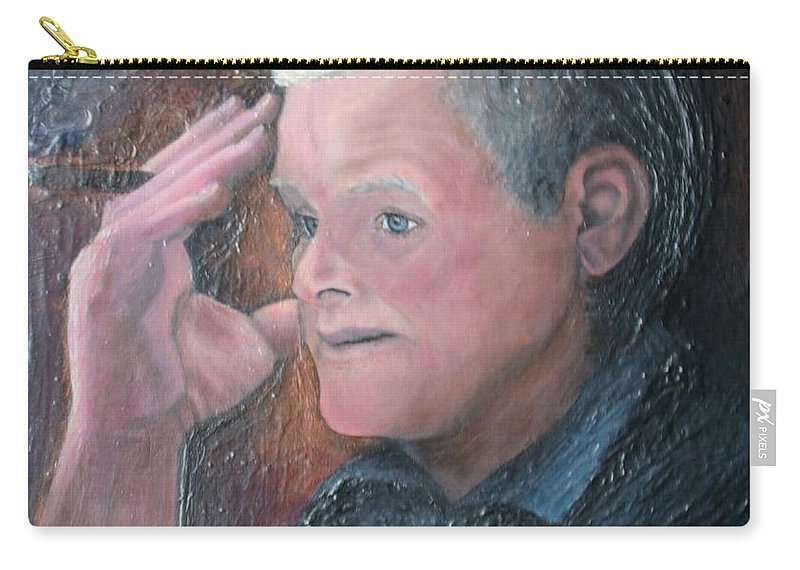 Portrait Carry-all Pouch featuring the painting Morris by Regina Brandt
