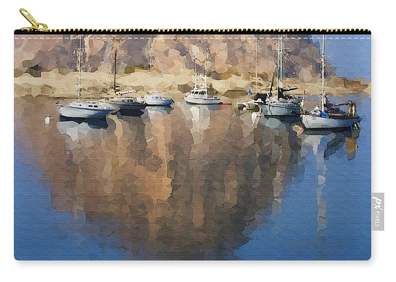 Boat Carry-all Pouch featuring the photograph Morro Harbor by Sharon Foster