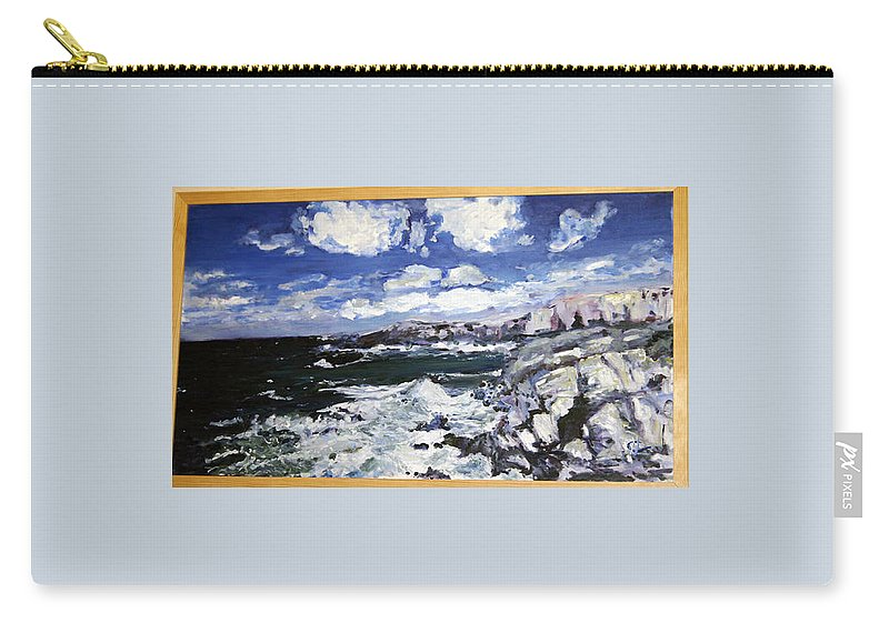 Landscape Carry-all Pouch featuring the painting Morska Energie by Pablo de Choros