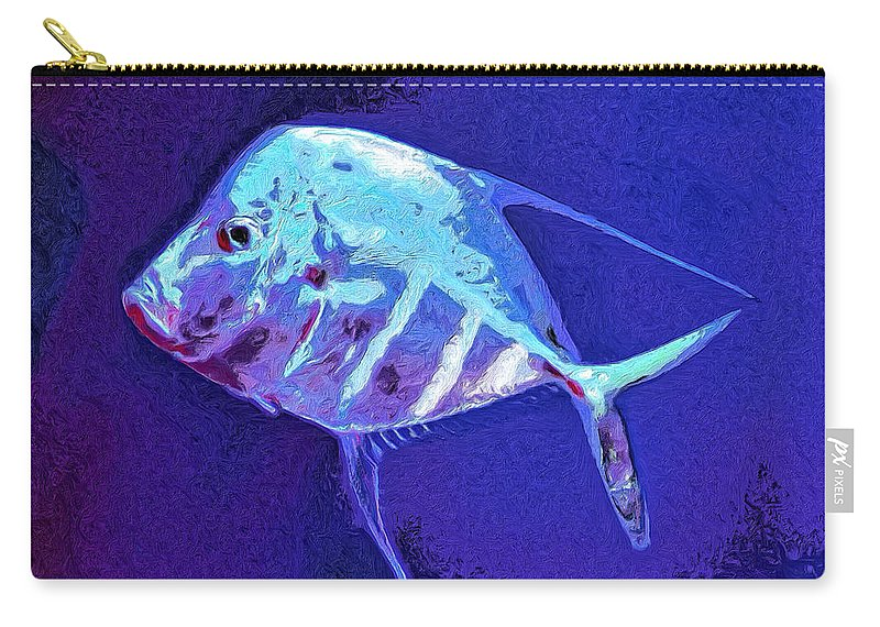 Fish Carry-all Pouch featuring the painting Morton by Dominic Piperata