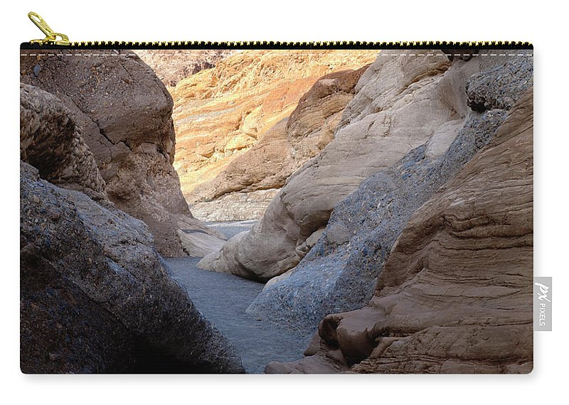 Mosaic Canyon Carry-all Pouch featuring the photograph Mosaic Canyon by Kelley King