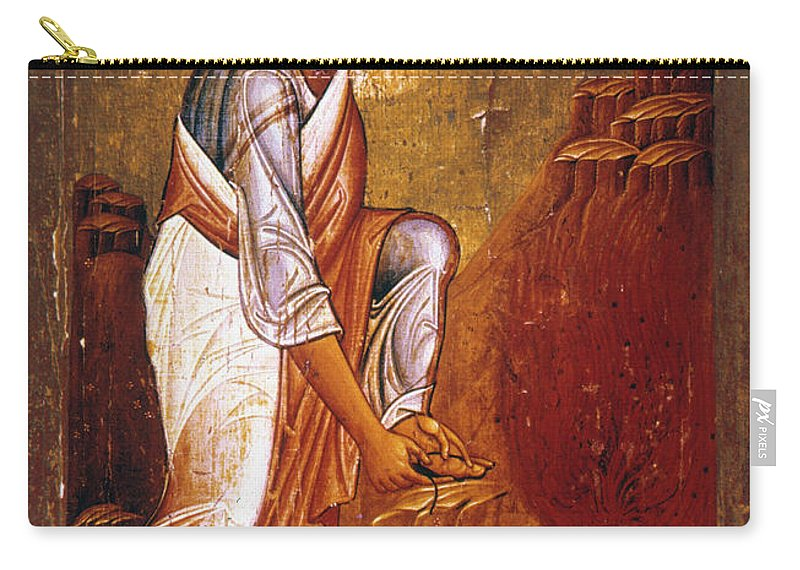 12th Century Carry-all Pouch featuring the photograph Moses Before Burning Bush by Granger