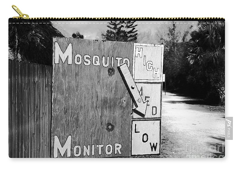 Mosquito Carry-all Pouch featuring the photograph Mosquito Monitor by David Lee Thompson
