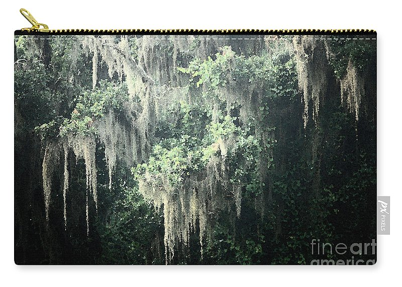 Nature Abstract Carry-all Pouch featuring the photograph Mossy Dream by Carol Groenen