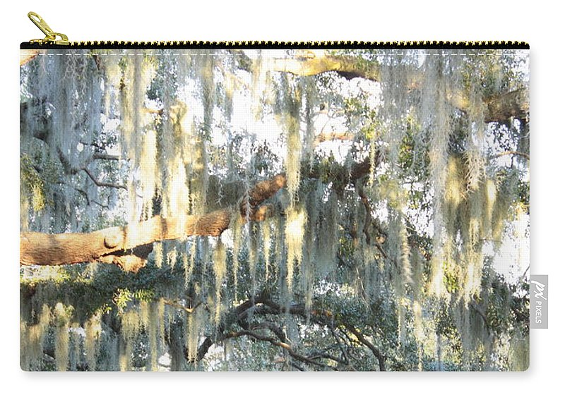 Mossy Carry-all Pouch featuring the photograph Mossy Live Oak by Carol Groenen