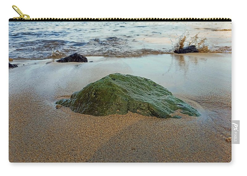 Pamela Walton Carry-all Pouch featuring the photograph Mossy Rock by Pamela Walton