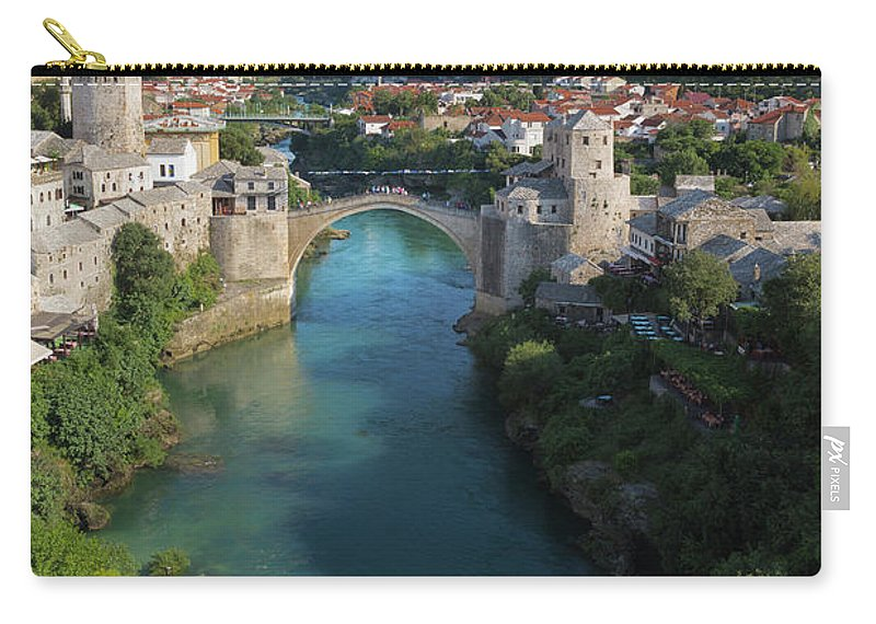 Bosnia Carry-all Pouch featuring the photograph Mostar, Bosnia And Herzegovina. Stari Most. The Old Bridge. by Ken Welsh