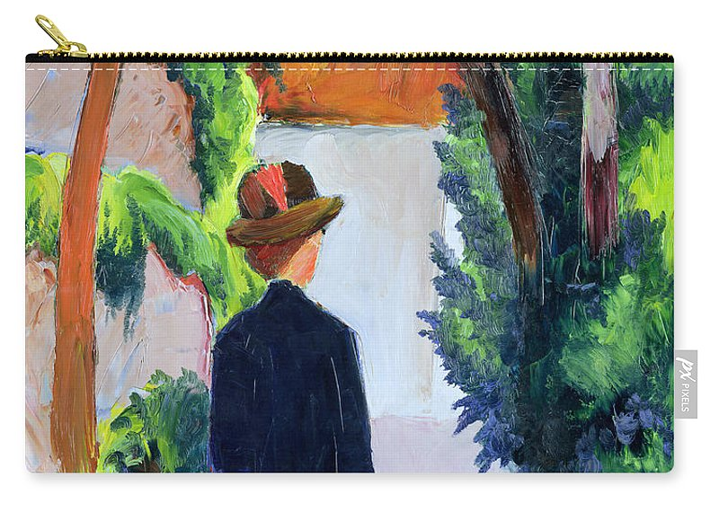 Mother Carry-all Pouch featuring the painting Mother And Child In The Park by August Macke