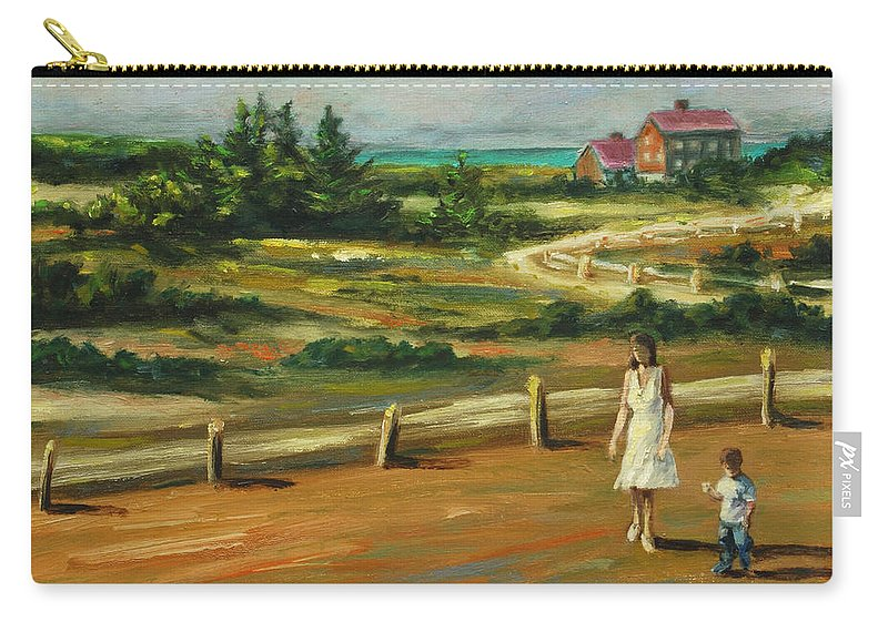 Family Carry-all Pouch featuring the painting Mother And Child by Rick Nederlof