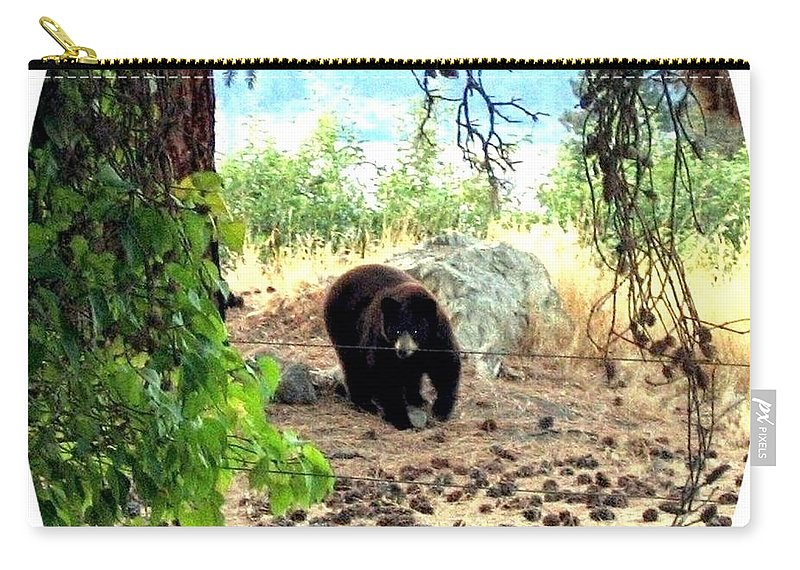 Bear Carry-all Pouch featuring the photograph Mother Bear by Will Borden