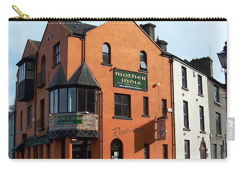 Ireland Carry-all Pouch featuring the photograph Mother India Restaurant Athlone Ireland by Teresa Mucha