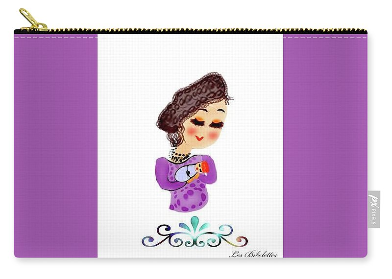 Bibelette Carry-all Pouch featuring the drawing Mother by Les Bibelettes