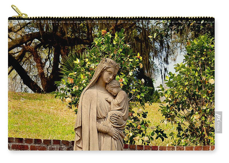 Holy Mary And Child Carry-all Pouch featuring the photograph Mother Mary by Susanne Van Hulst