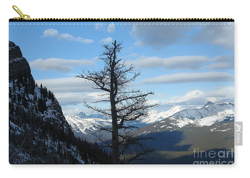 Old Larch Tree Carry-all Pouch featuring the photograph Mother Natures Canvas by Greg Hammond
