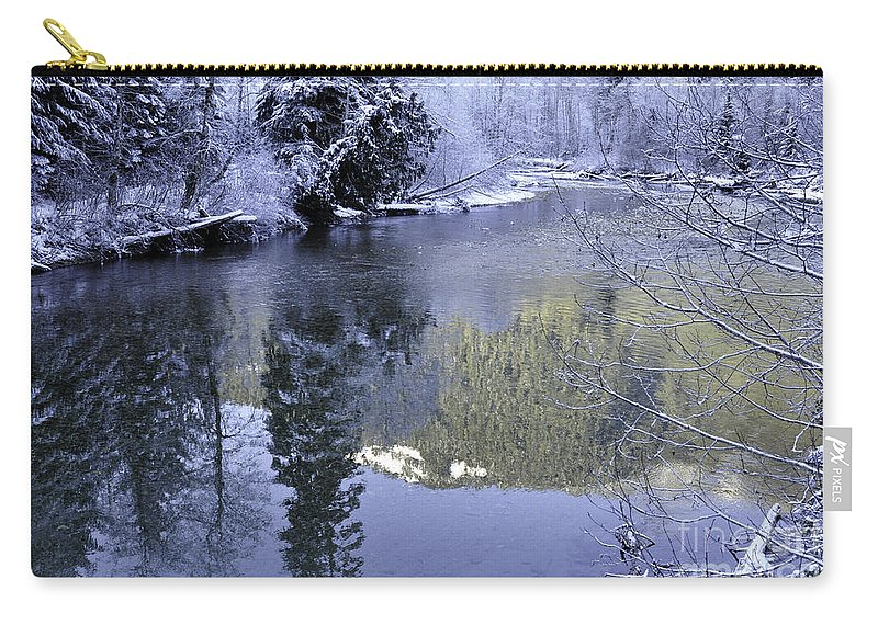 Clay Carry-all Pouch featuring the photograph Mother Natures Chilling Touch by Clayton Bruster