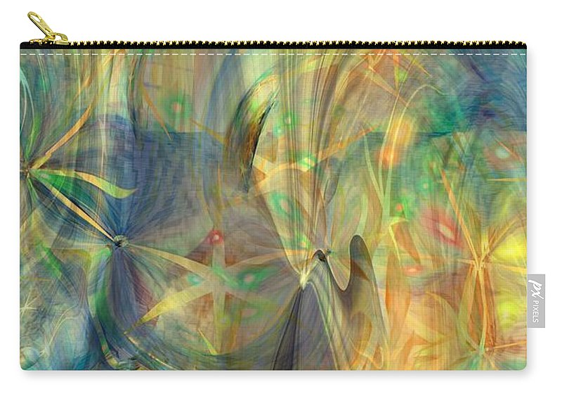 Abstarct Art Carry-all Pouch featuring the digital art Mother Of Angels by Linda Sannuti