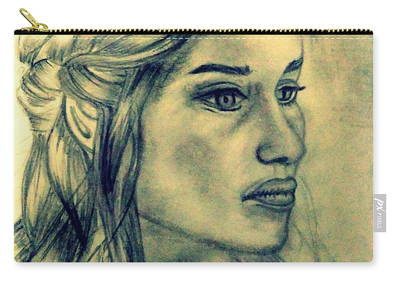Khaleesi Carry-all Pouch featuring the digital art Mother Of Dragons by Siddharth Jain