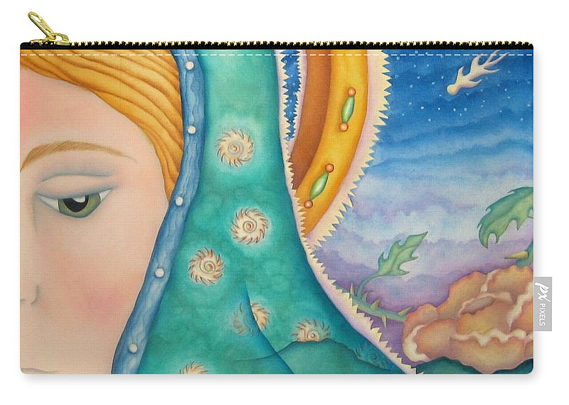 Texas Carry-all Pouch featuring the painting Mother Of My Soul by Jeniffer Stapher-Thomas