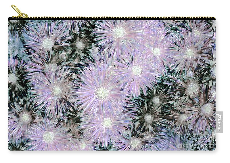 Daisies Carry-all Pouch featuring the photograph Mother Of Pearl Daisies By Kaye Menner by Kaye Menner