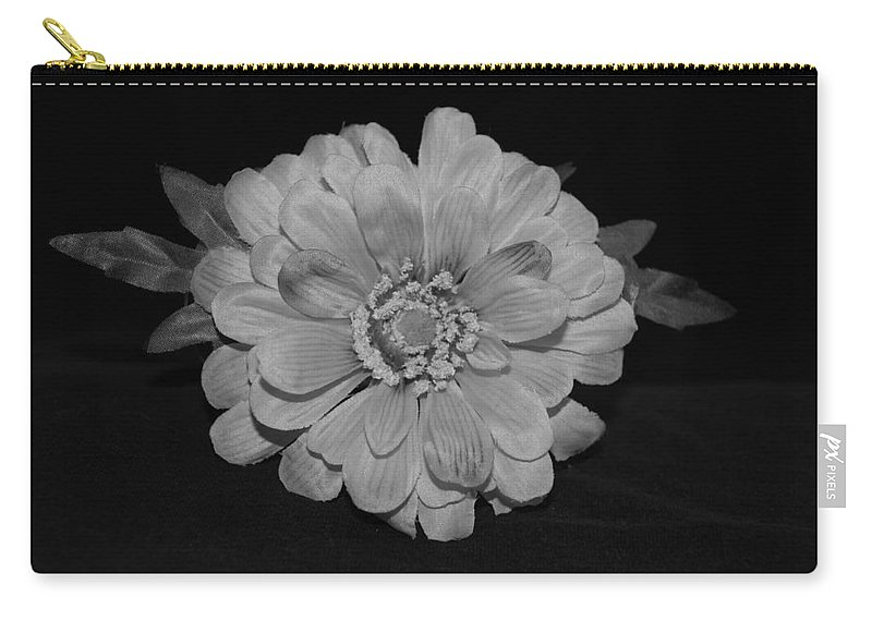 Black And White Carry-all Pouch featuring the photograph Mothers Day Flower by Rob Hans