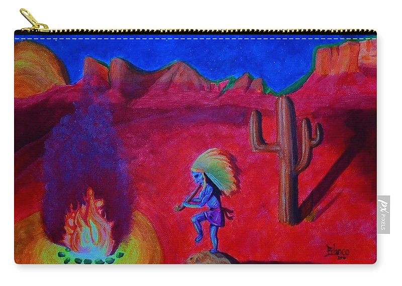 Mother's Helper Carry-all Pouch featuring the painting Mother's Helper by Bonnie Blanco