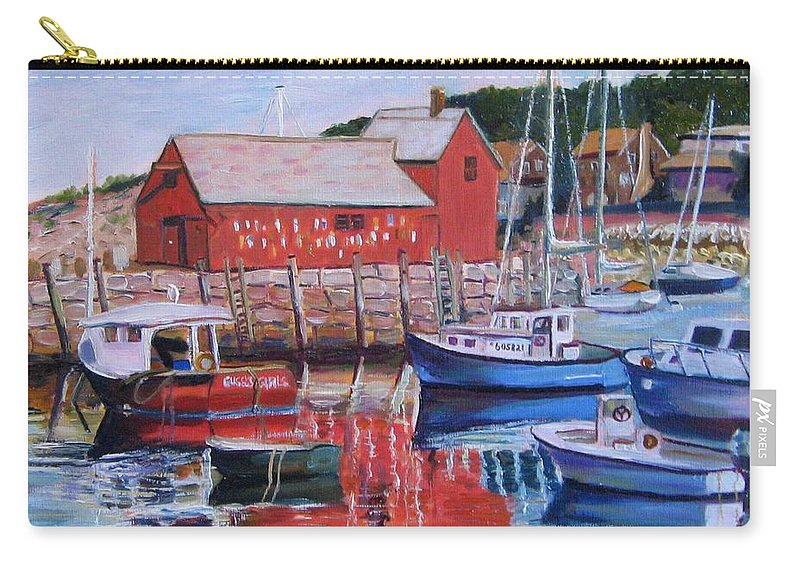 Rockport Carry-all Pouch featuring the painting Motif Number One by Richard Nowak