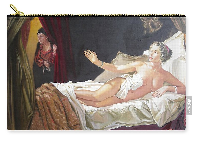 Ignatenko Carry-all Pouch featuring the painting Motif of Danae by Sergey Ignatenko