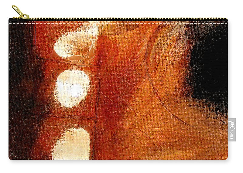 Abstract Carry-all Pouch featuring the painting Motion Trap by Ruth Palmer