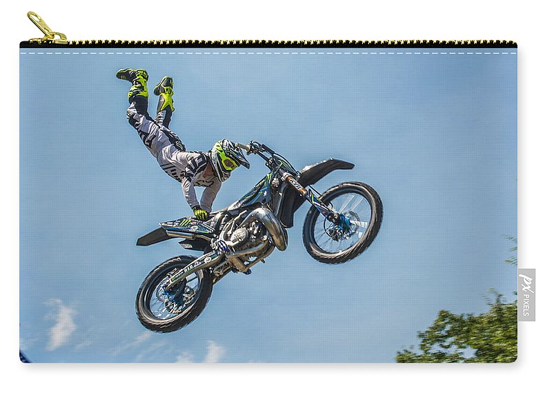 Motocross Carry-all Pouch featuring the photograph Motocross by Robert Carlsen
