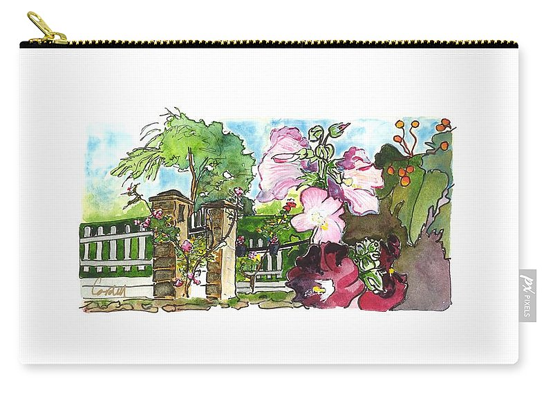 French Countryside Carry-all Pouch featuring the painting Moulin Du Breuil,  Cognac by Joan Cordell