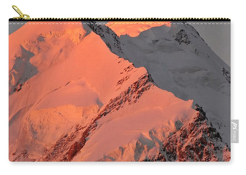 Snow Carry-all Pouch featuring the digital art Mount Cook Range On South Island In New Zealand by Mark Duffy