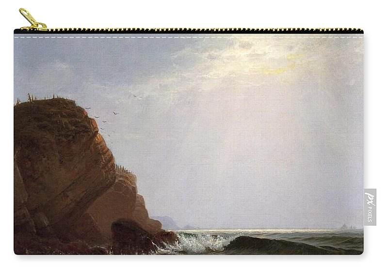Alfred Thompson Bricher (1837-1908) Otter Cliffs Carry-all Pouch featuring the painting Mount Desert Island by Alfred Thompson