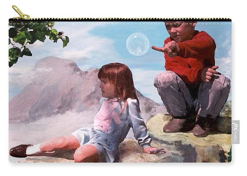 Landscape Carry-all Pouch featuring the painting Mount Innocence by Steve Karol