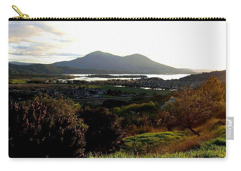 Mount Konocti Carry-all Pouch featuring the photograph Mount Konocti by Will Borden
