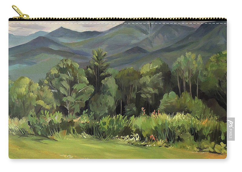 White Mountain Paintngs Carry-all Pouch featuring the painting Mount Lafayette From Sugar Hill New Hampshire by Nancy Griswold