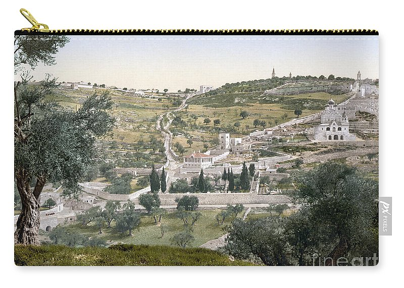 1900 Carry-all Pouch featuring the photograph Mount Of Olives, C1900 by Granger