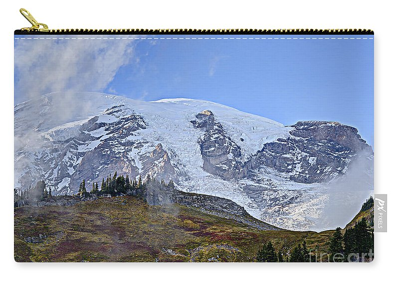 America Carry-all Pouch featuring the photograph Mount Rainier 3 by Marv Vandehey