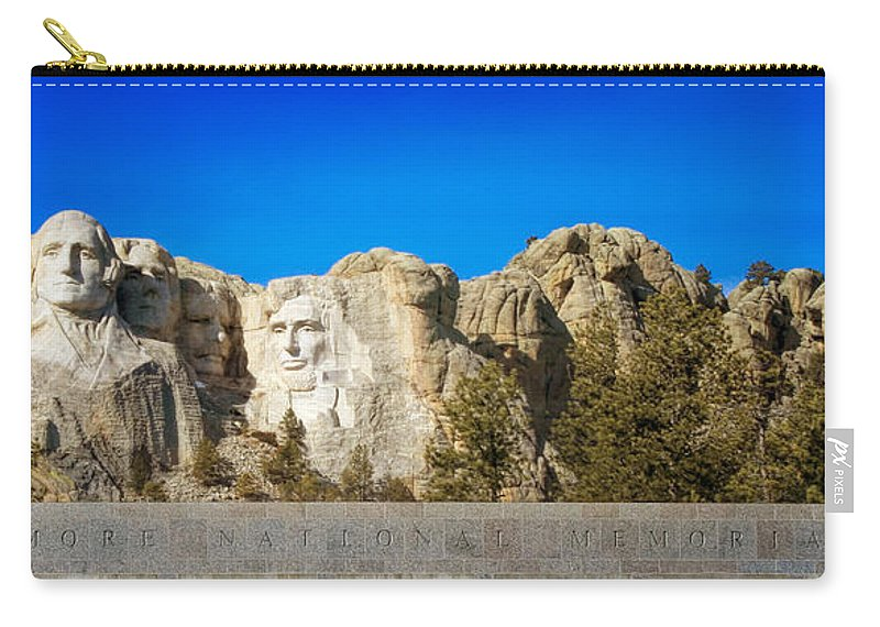 Mount Rushmore Carry-all Pouch featuring the photograph Mount Rushmore National Memorial by Susan Rissi Tregoning