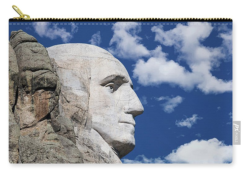 Black Hills Carry-all Pouch featuring the photograph Mount Rushmore Profile Of George Washington by Tom Mc Nemar