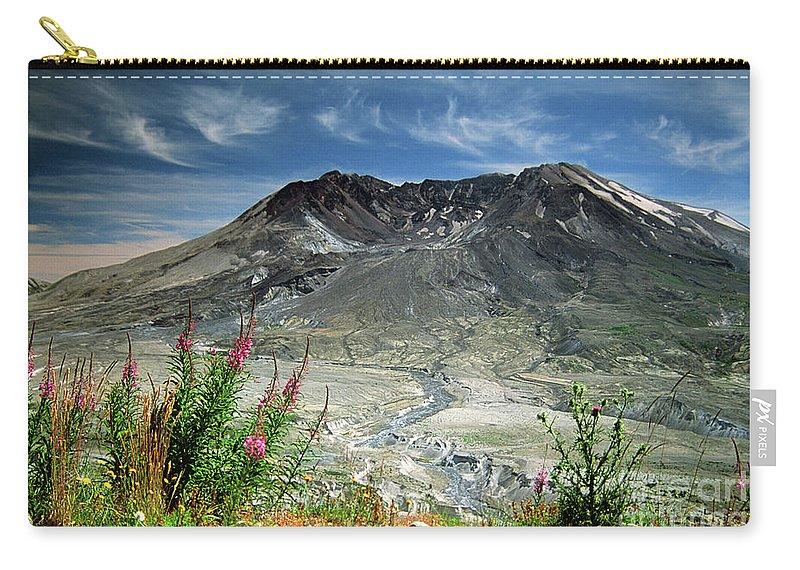 Caldera Carry-all Pouch featuring the photograph Mount Saint Helens Caldera by Rick Bures