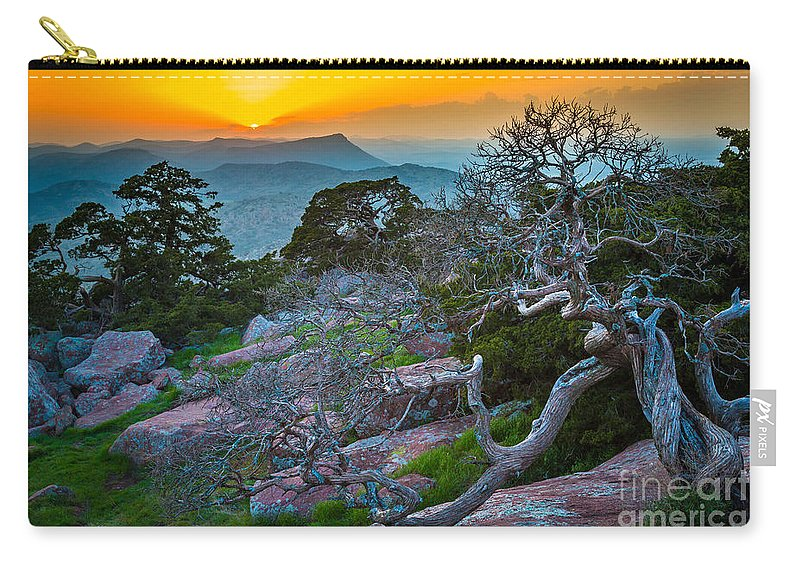 America Carry-all Pouch featuring the photograph Mount Scott Sunset by Inge Johnsson