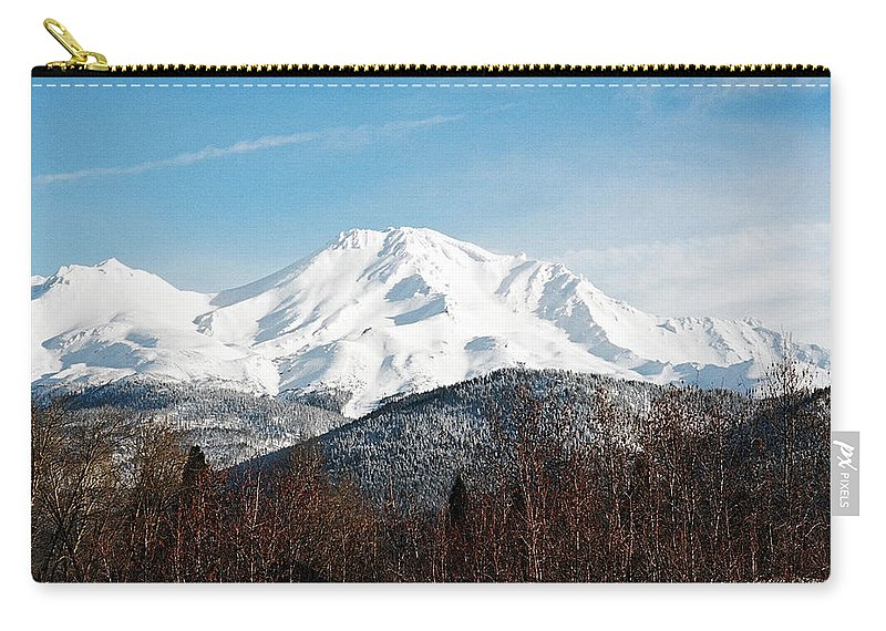 Mount Shasta Carry-all Pouch featuring the photograph Mount Shasta by Anthony Jones