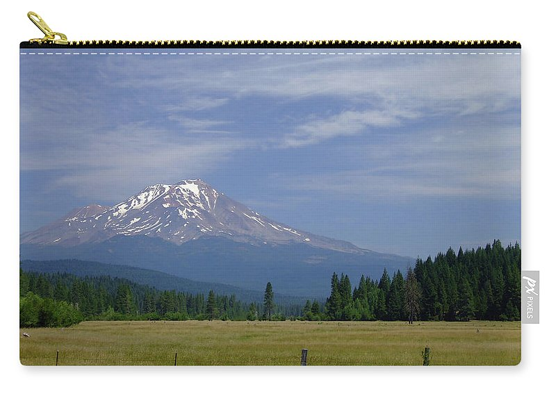 Mount Shasta Carry-all Pouch featuring the photograph Mount Shasta by Donna Blackhall