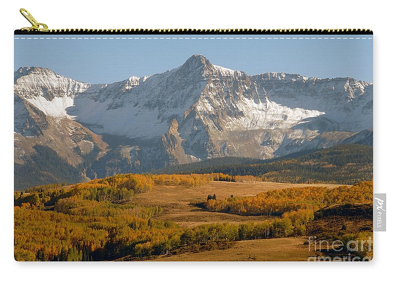 Mount Sneffels Carry-all Pouch featuring the photograph Mount Sneffels by David Lee Thompson