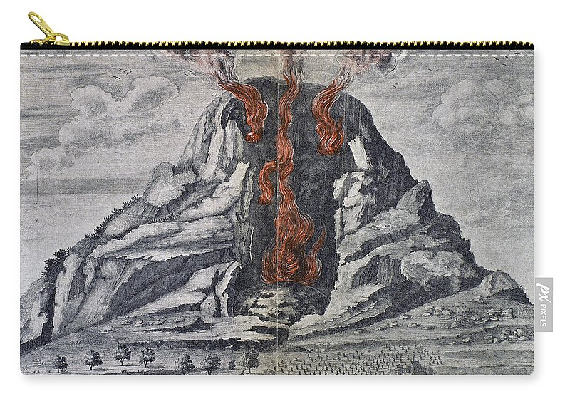 1665 Carry-all Pouch featuring the photograph Mount Vesuvius, 1665 by Granger